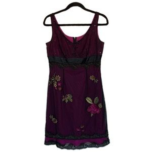 Anthropologie Adrianna Papell 8P Lace Bead Dress